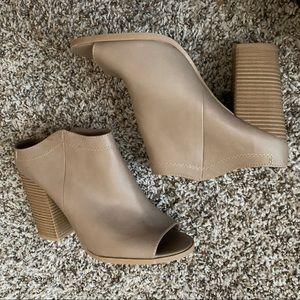 DV taupe backless block heels